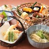 浮橋 - 料理写真:新ランチメニュー!温かいおうどんと、かご弁当のセット