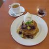 不二家レストラン - 料理写真:イタリア栗とオレンジ芋のホットケーキ