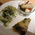 カフェアンドミール ムジ - サバ+サラダ2品