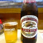 鳥福 - 生ビール(中瓶)550円