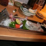 希味 - カワハギと、肝寿司