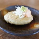 蕎麦工房 まつ田 - これはめっちゃうまい!!揚げそばがき!甘辛いタレで味付けしてます。