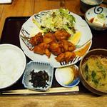 料理屋 三船 - 鶏の唐揚げ定食