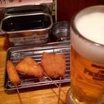 くし家串猿 - 串家セット(串揚げ3本+飲み物 700円)