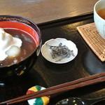 カフェ タブノキ - 淡雪ぜんざい・ほうじ茶付き