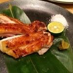 阿波水産 - 料理写真:皮はパリッと!身はジューシー♪阿波尾鶏のもも肉岩塩焼き!