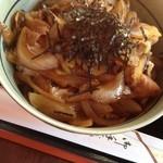 民芸茶屋 清水 - イノブタ肉めし735円