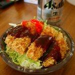 福腹亭 - セットのソースカツ丼