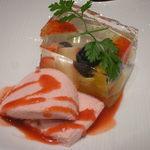 日本料理 つる家  - フルーツのゼリー寄せ イチゴムース