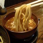 つぼや - 濃厚なつけ汁と極太麺が良く合います。