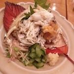 天馬 - 料理写真:ワタリガニ子持ち 酢