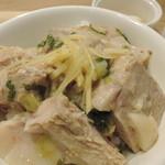 たね・かふぇ - 天草宝牧豚の塩豚(煮豚)アップ