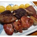 藤よし - お腹が一杯ですので、軽く頂きました。 「肝」好きですので、魚の肝だけでなく「鶏肝」も好きなのです。