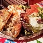 墨国回転鶏料理 - ベジ盛り