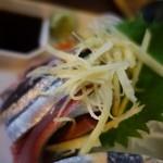 まつ惣 - (2013/10月)「新秋刀魚刺身」