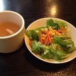 バンケットルーム赤坂 HITOTSUGI - サラダとスープ(2013.12)