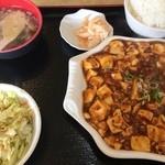 金龍美食 - 日替わり定食 麻婆豆腐(580円)