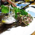 魚・肴・処 ひでまる - 鯵なめろう580円