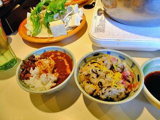 しゃぶ葉 - カレー & ちらし寿司