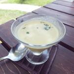 檪の丘 - 竹田産 とうもろこしの冷製スープ 400円