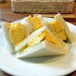 entotsu Bistro&Cafe - タマゴサンド500円+朝食セット200円