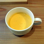 entotsu Bistro&Cafe - 朝食セット(+200円)のニンジンポタージュ