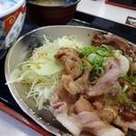 吉野家 - ロース豚焼定食 十勝仕立て
