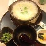 23213768 - ランチ「スッポン雑炊(980円)」です