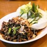 プーピン - ラープヌアチェンマイ(1,200円)牛挽き肉のチェンマイ風サラダ