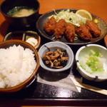 土風炉 - 広島産 牡蠣フライ定食