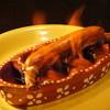 フランクストン - 料理写真:ポルトガル風チョリソー直火焼き  ¥550 直火焼きファイヤー!!!!!