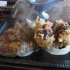 きらく - 料理写真:カニコロ&ハンバーグ(1100円)