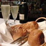 ristorante ANDREA - 最初にパンが登場