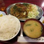 レストラン喫茶 タクト - ハンバーグ焼きそば定食 980円