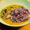 カフェ バイロンベイ - 料理写真:自家製のレッドカレー。お米は、無農薬栽培のものを使用してます^^