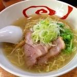 こうじろう - 鶏にぼし塩らーめん 700円 (2013.12/初訪)