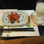 夜行列車 - 鮭トバ、花垣のにごり酒