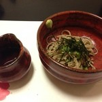 かんすい苑 覚楽 - 夕食(こんにゃく蕎麦)