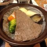 かんすい苑 覚楽 - 夕食(栃木牛)