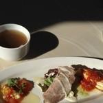BUONO - ランチメニューBを選択 前菜3種盛り合わせとスープ