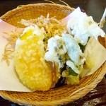 蕎麦 貴賓館 - 季節野菜の天ぷら