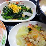 大衆食堂 半田屋 - 菜の花炒め・物野菜炒め