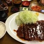 金光軒 - 黒豚300g味噌カツ定食