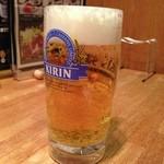 山形牛ステーキ&焼肉 かかし - 生ビール