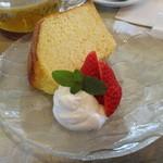 花と紅茶Pixy - シフォンケーキ(はちみつ)