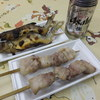 旅館みはる - 料理写真:鮎の塩焼きと清川恵水ポーク串焼き