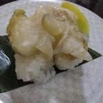 すし銚子丸 - 真つぶ貝 ¥300-