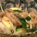 旬味ひげ - 下仁田葱ともち豚の炒めもの