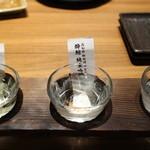 龍馬 しゃも農場 - 地酒飲み比べ三種セット 1,344円