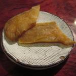 旬膳処 茶目 - 付き出しの生風芋けんぴ